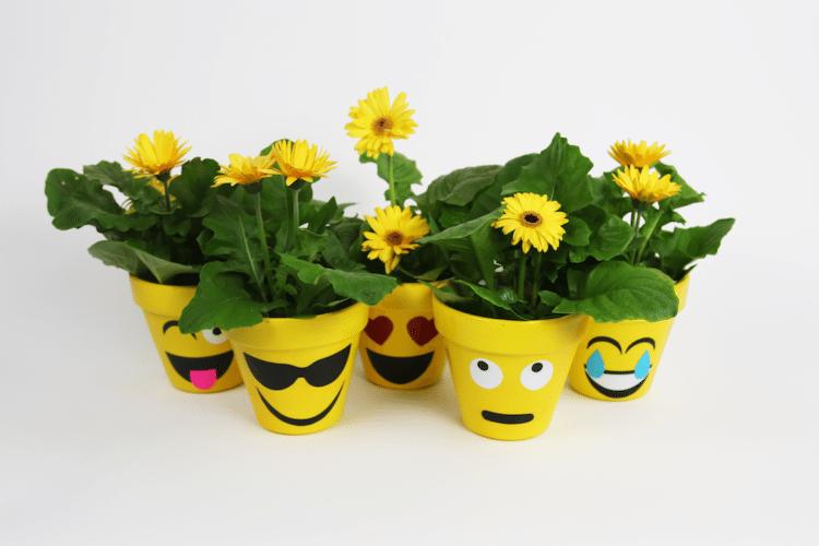 Emoji Pots DIY Kids Craft Project