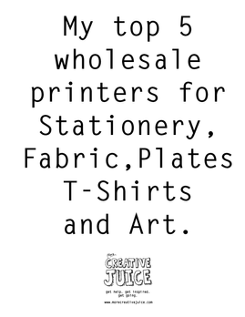 5 Wholesale Printing Companies