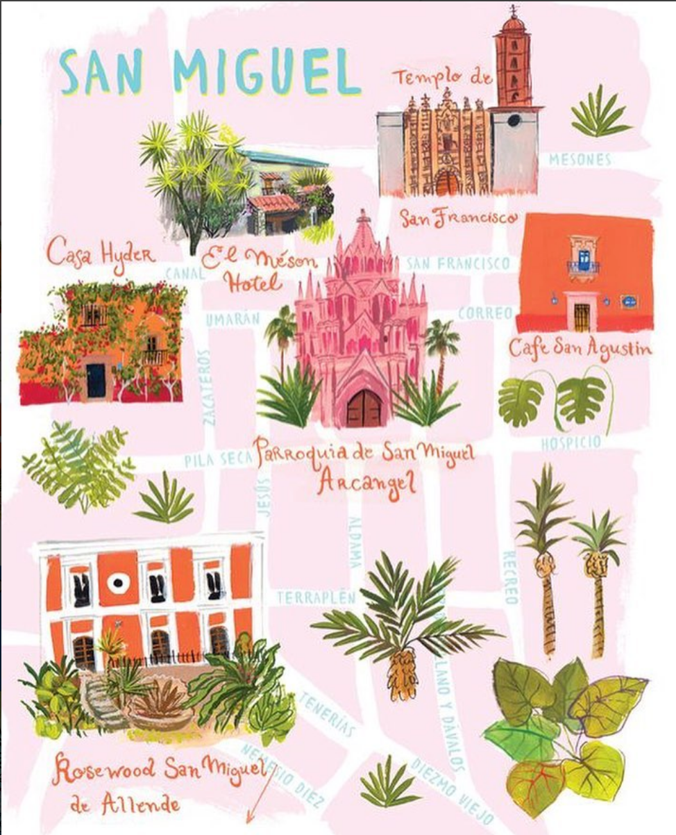 Illustrated map of San Miguel by Jolly Edition