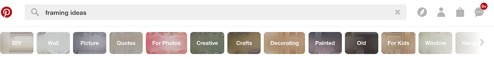 Pinterest Guided Search Screenshot