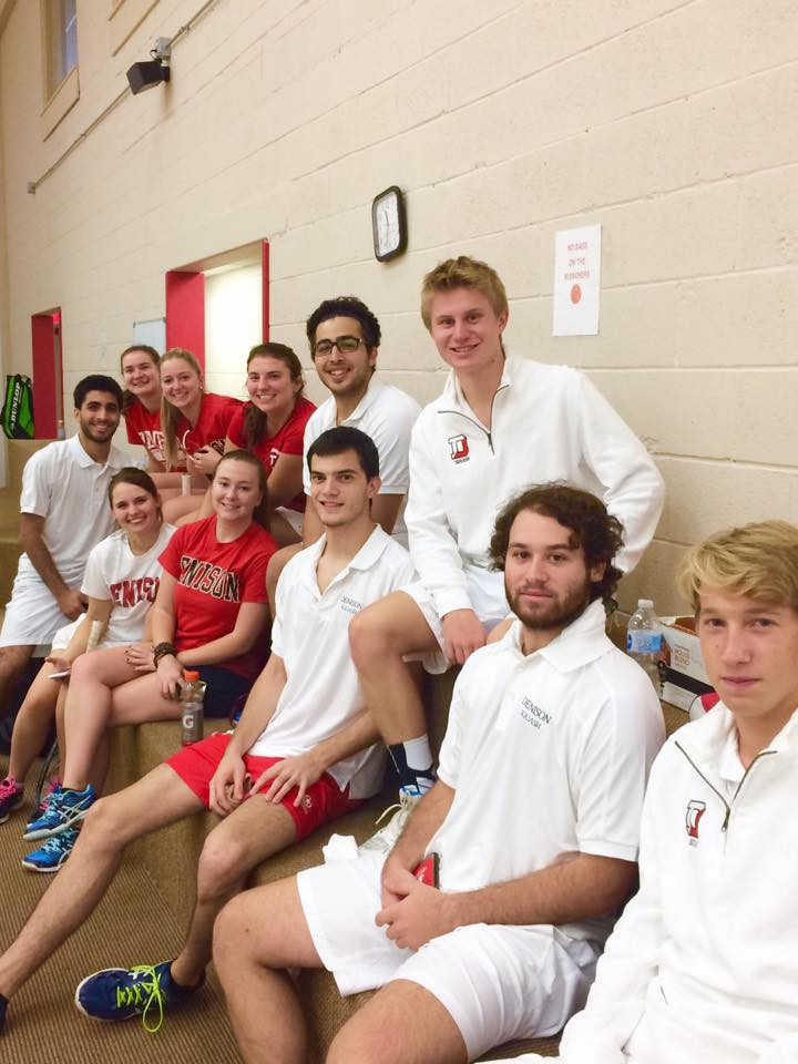 The Denison Squash Team plays at The T