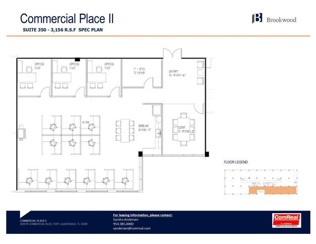 Commercial Place II- Suite 350 - 3,156 SF