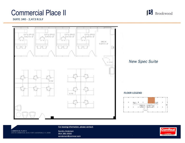 Commercial Place II- Suite 340 - 2,473 SF