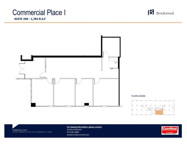 Commercial Place I - Suite 290  1,782 SF