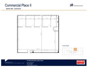 Commercial Place II - Suite 340 - 2,473 S