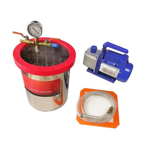 Lab Small Vacuum Chamber Kit 2 Gallon (Free Express Shipping)