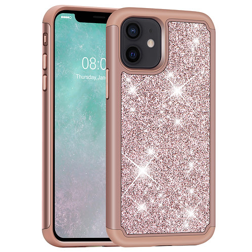 iPhone 12 Mini Case, [Glittering] [ArmorBox] Dual Layer Anti-Shock Case