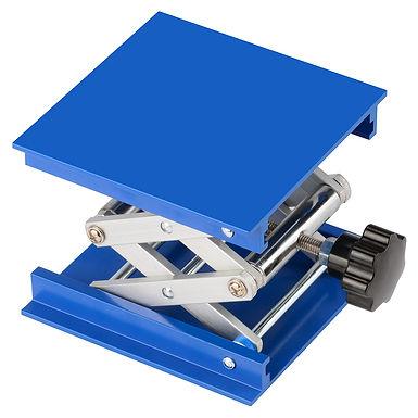 Anodized Aluminum Top Deck Lab Support Jack Lab Lift Stand Table Scissor Jack