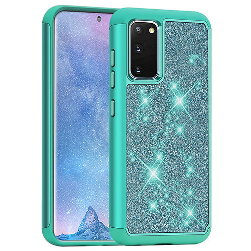 Samsung Galaxy S20 [Glittering] [ArmorBox] [Dual Layer] Shock Resistant Case