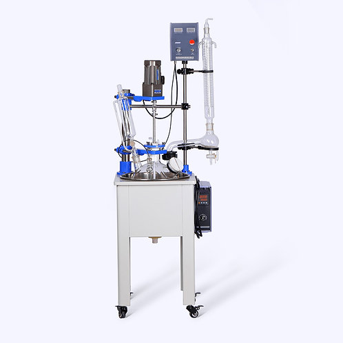Biotechnology Lab Single Layer Glass Reactor Machine (Free Shipping)