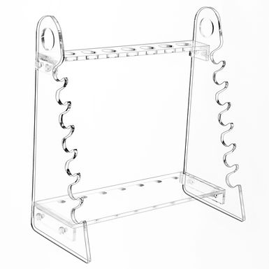 Detachable Plexiglass Pipette Holder Stand Pipet Rack with 1.5 cm Hole Diameter