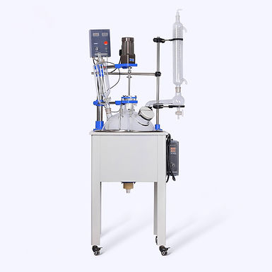 Electric Heating Continuous Stirred Glass Reactor 50L (Free Shipping)