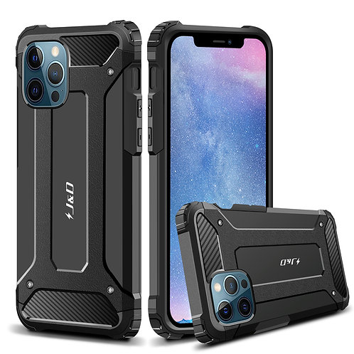 iPhone 12 Pro Max Case, [ArmorBox] [Dual Layer] Shockproof Hybrid Rugged Case
