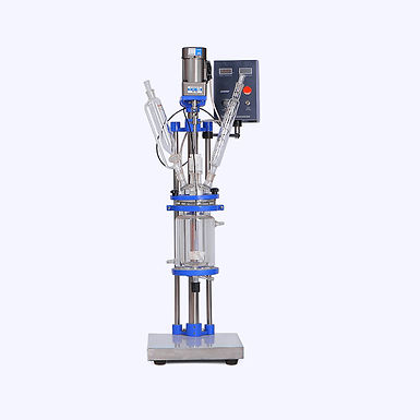 1L Small Volume Chemical Vacuum Jacketed Glass Reactor (Free Shipping)
