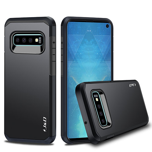 Samsung Galaxy S10 [Dual Layer] Hybrid Shock Proof Rugged Bumper Protective Case
