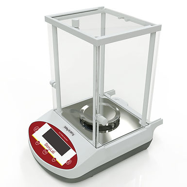 Precision Analytical Balance Electronic Scale with Shield and LCD Display, 110V