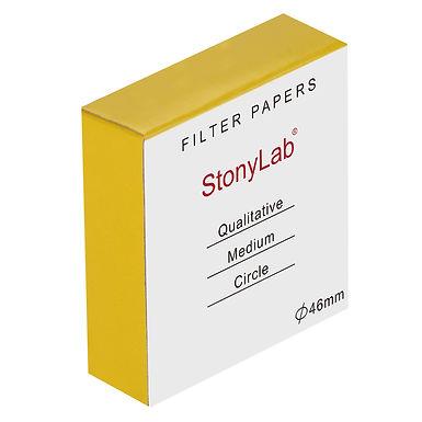 Qualitative Filter Paper, Cellulose, 20 Micron Med Filtration Spd, 100 Pack