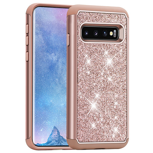Samsung Galaxy S10 [Glittering] [ArmorBox] [Dual Layer] Shockproof Hybrid Case