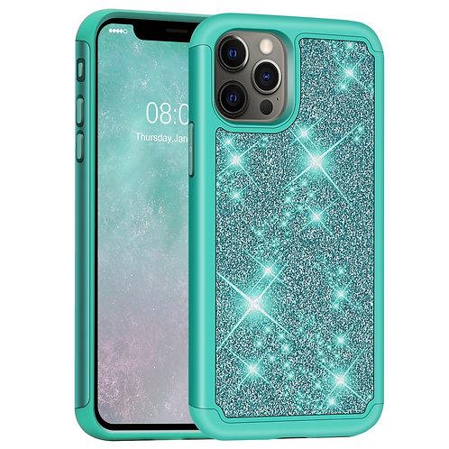 iPhone 12 Pro Max Case, [Glittering] [ArmorBox] Dual Layer Anti-Shock Case