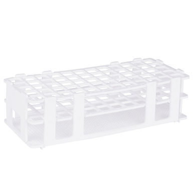 16 mm 60-Place White Plastic Test Tube Rack, 3-Tier Design and Detachable