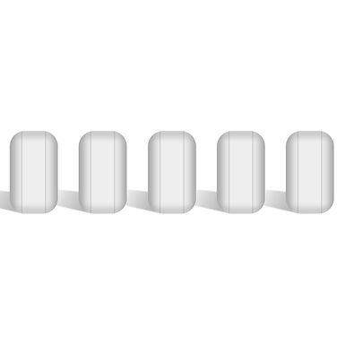 5-Pack Stir Bar Set, PTFE-Coated Magnetic Stirring Bars White Stir Mixer
