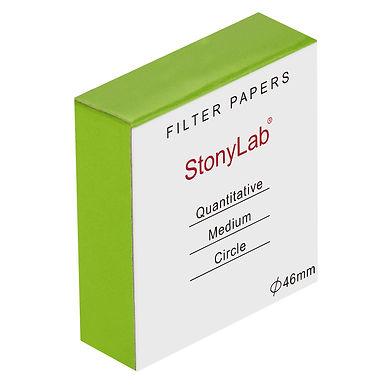 Quantitative Filter Paper, Cellulose, 20 Micron Med Filtration Spd, 100 Pack