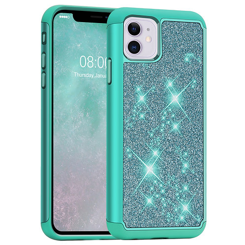 iPhone 11 [Glittering] Dual Layer Hybrid Case - Not for iPhone 11 Pro/11 Pro Max