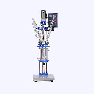 Small Volume Chemical Vacuum Jacketed Glass Reactor (Free Shipping)