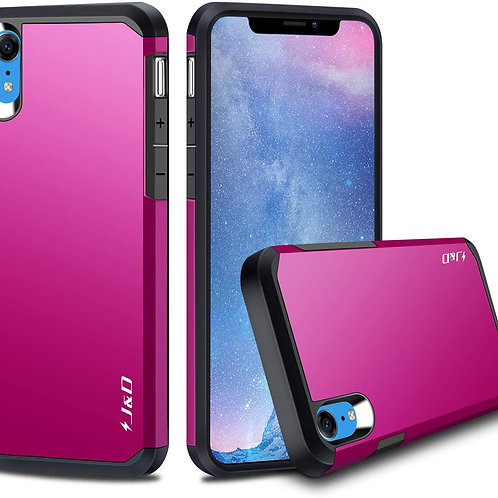 iPhone XR 6.1in [Dual Layer] Hybrid Shock Proof Protective Rugged Bumper Case