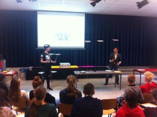 Drie trainingen 'Multitasken is een mythe' voor het Herbert Visser College in Nieuw Vennep.