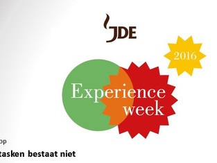 'Multitasken is een mythe' bij de experience week van Jacobs Douwe Egberts.