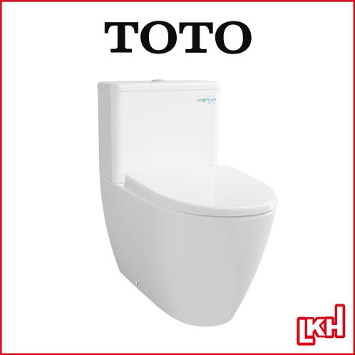TOTO 2 Piece Design Toilet Bowl w Soft Closing Seat Cover P-Trap CW635PJ/SW635JP
