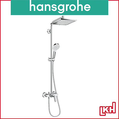 Hansgrohe Crometta E Showerpipe 240 1jet with Single Lever Mixer 27284000