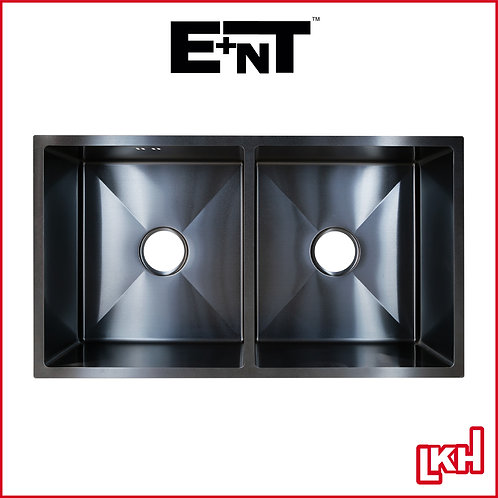 E+NT Nano Tech Undermount Double Bowl Sink 800mm 8045