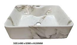 8025A-D Marble Basin