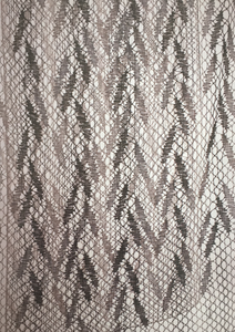 Jane Atkinson, Weep Not For Me (detail), 2012, Linen tow, 136 x 70cm