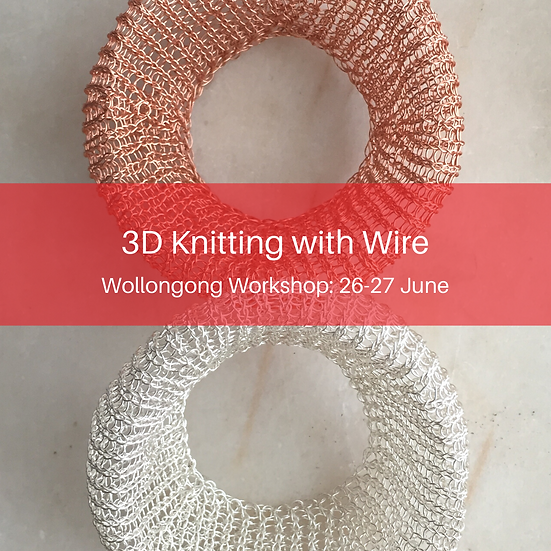Sculptural Knitted Wire Jewellery
