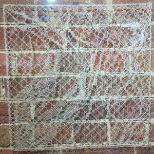 Jane Atkinson, Windrift, 2015, Mixed linen, 41 x 41cm