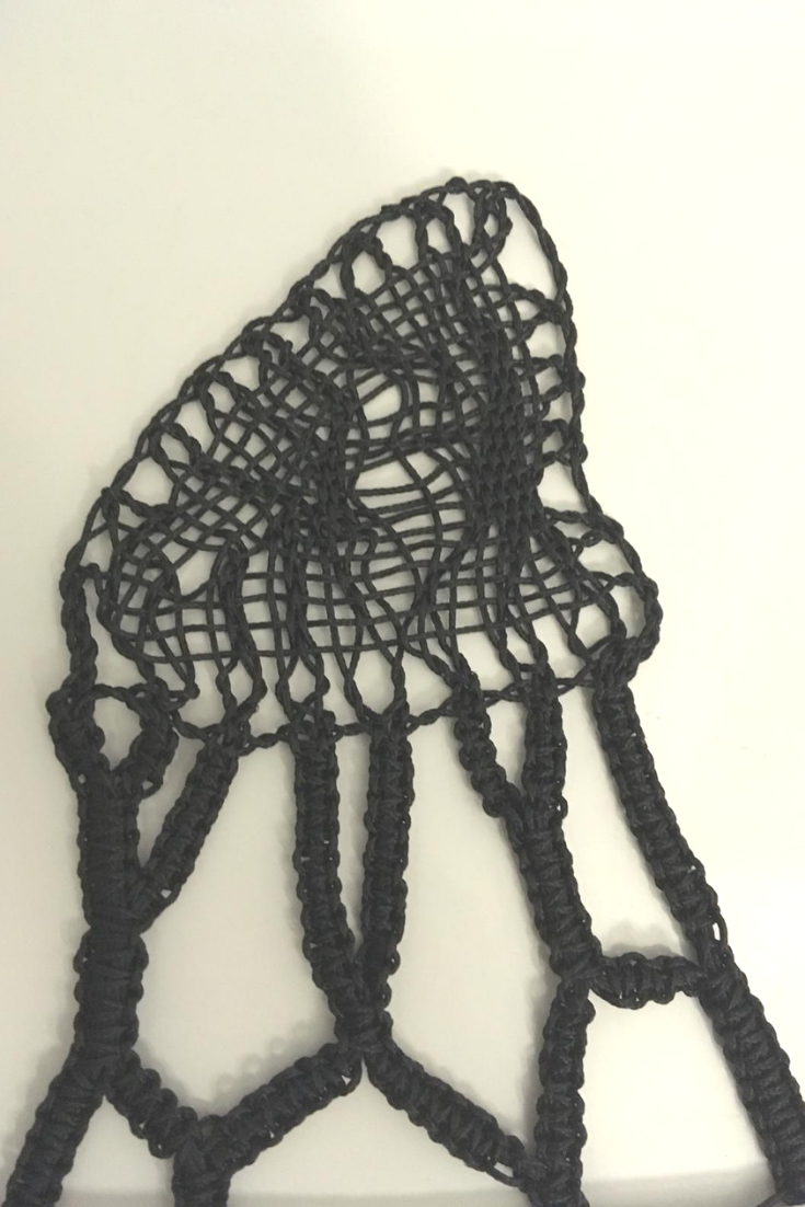One of the lace forms which Pierre Fouché gave us to experiment with