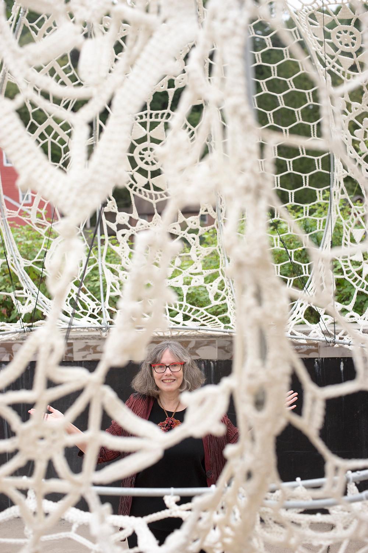 Curator, Devon Thein, inside an Urchin