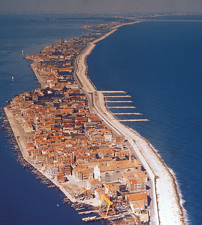 View of the island of Pellestrina