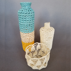 Needle Lace Vessels