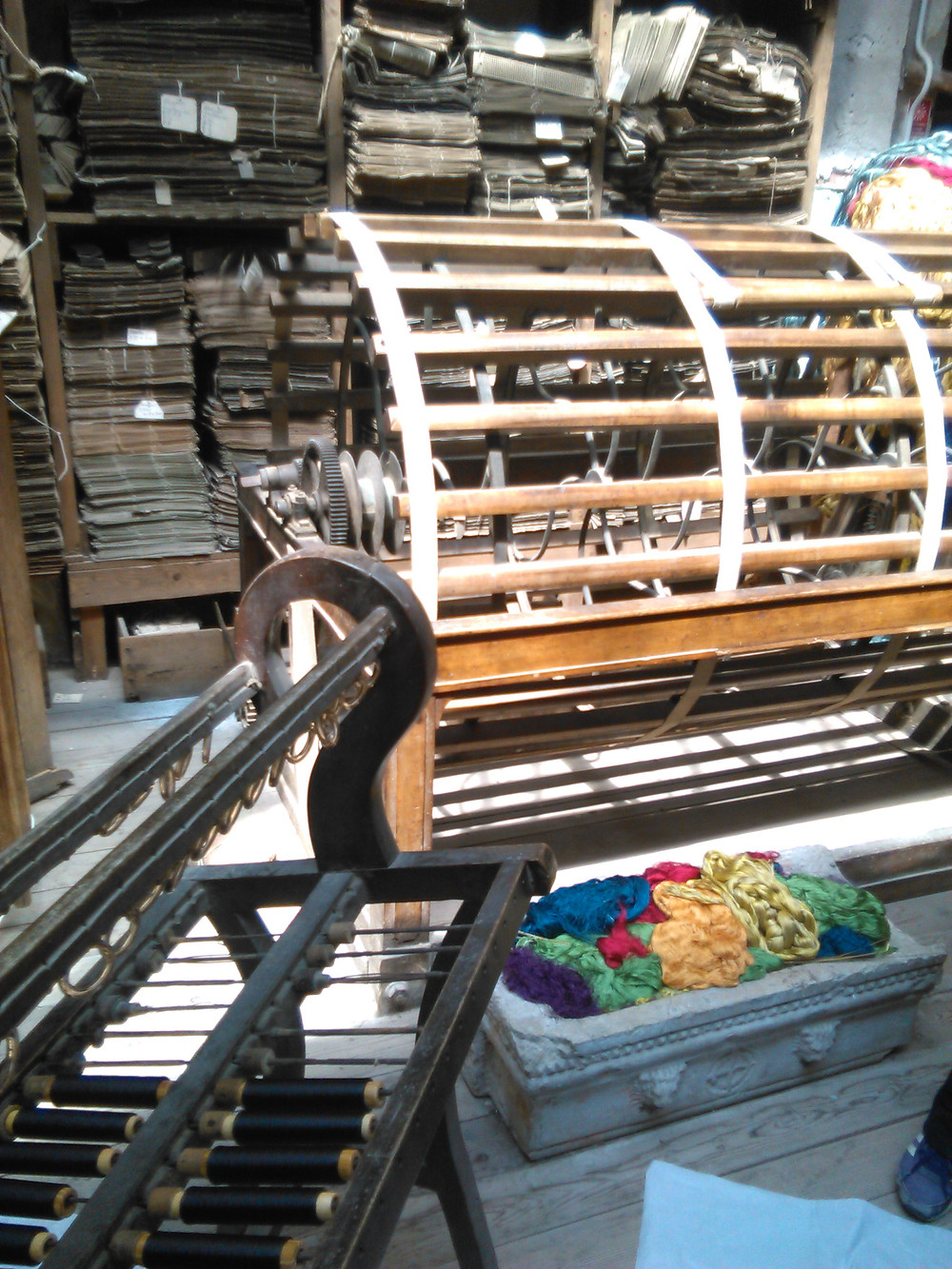Warping machinery and Jacquard archive, Bevilacqua, Venice
