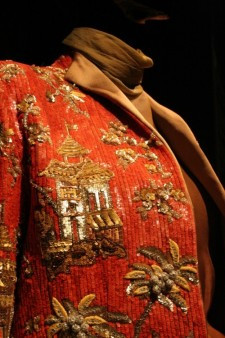 Detail of emboidery, Jacket, Valentino couture 1990-91, embroidery by Pino Grasso