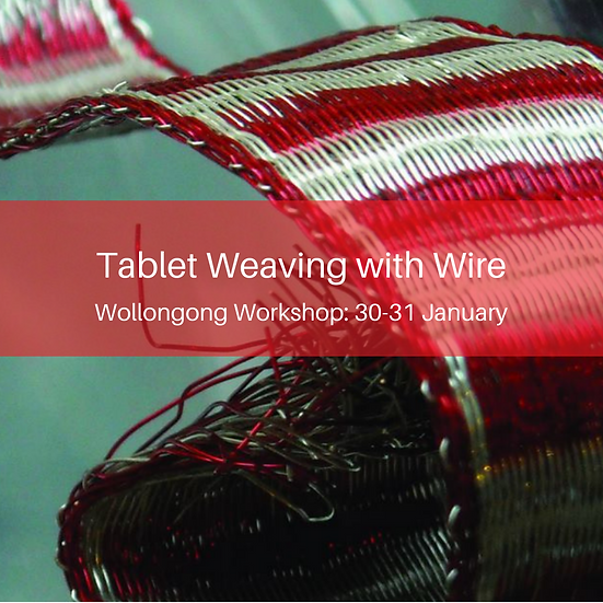 Tablet Weaving with Wire