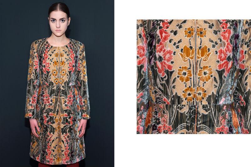 Art Nouveau inspired velvet coat by Bevilacqua - Pizzinato