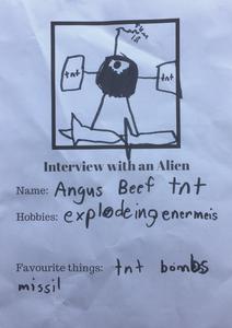 Young Mr J's Alien friend Angus Beef TNT