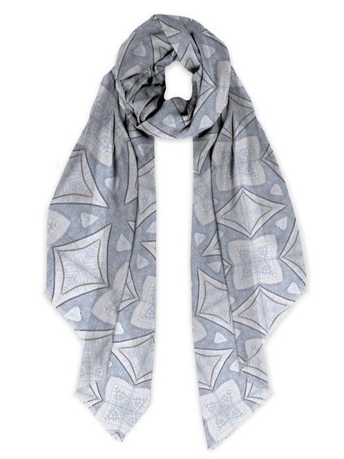 Topographic H Modal Scarf
