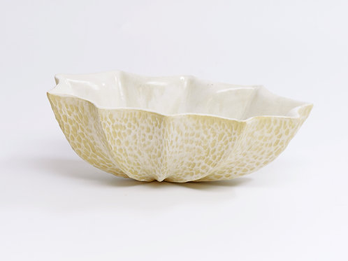 Star Bowl Oval Carve White