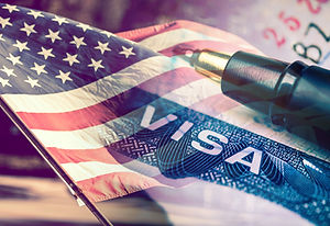 United States of America Visa Document,